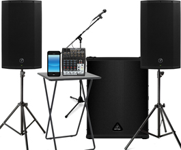 3000 Watt System For A Big Club Like Sound Great Outdoor Parties Bigger Events Speakers Sub Table Mixer Mic Stands All Cables Connect Your